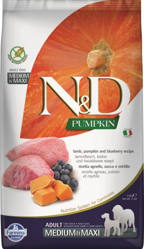 N&D Dog GF Pumpkin Lamb & Blueberry Adult Medium & Maxi